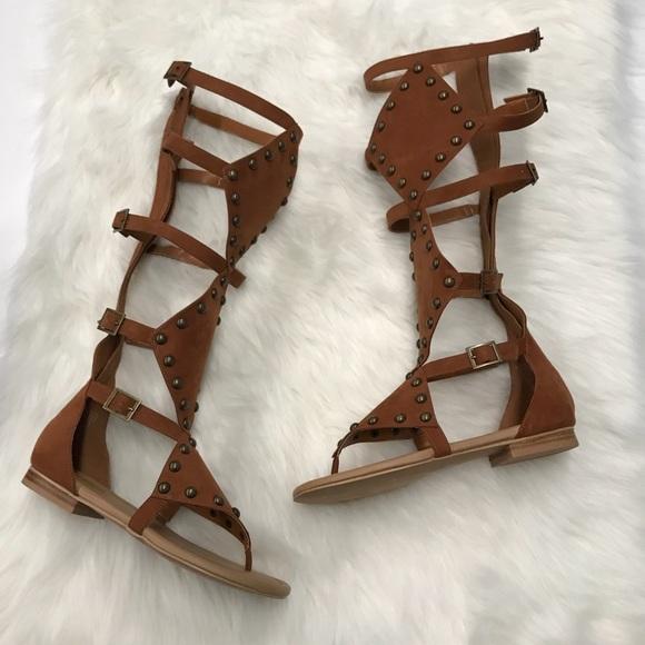 b9c4403ff4bb NEW Torrid Wide Calf Knee High Gladiator Sandals